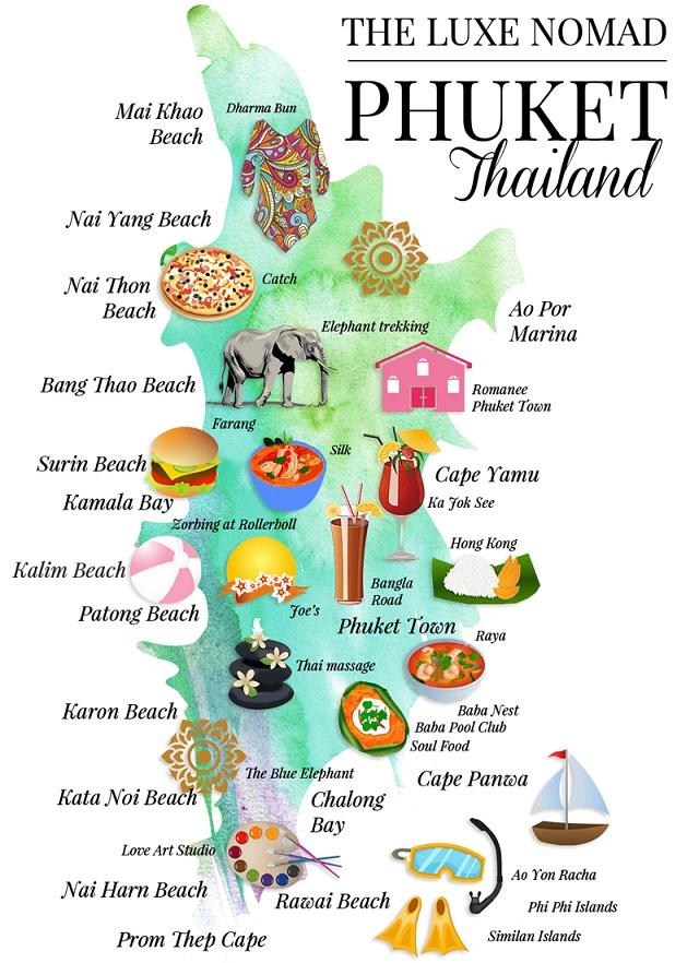Bản đồ du lịch Phuket