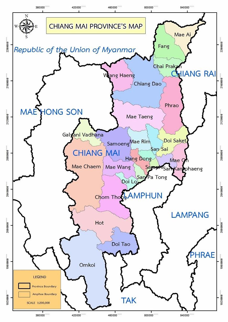 Bản đồ Chiang Mai