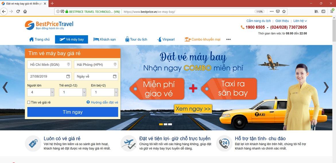 Đặt vé máy bay tại bestprice.vn