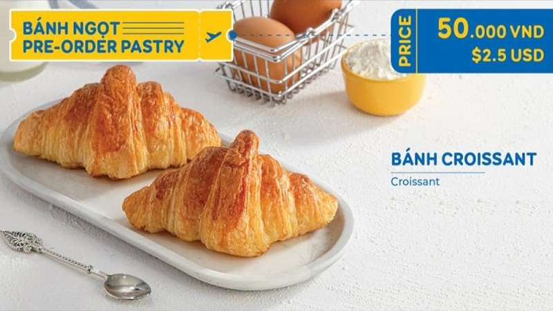 Bánh croissant rất được yêu thích