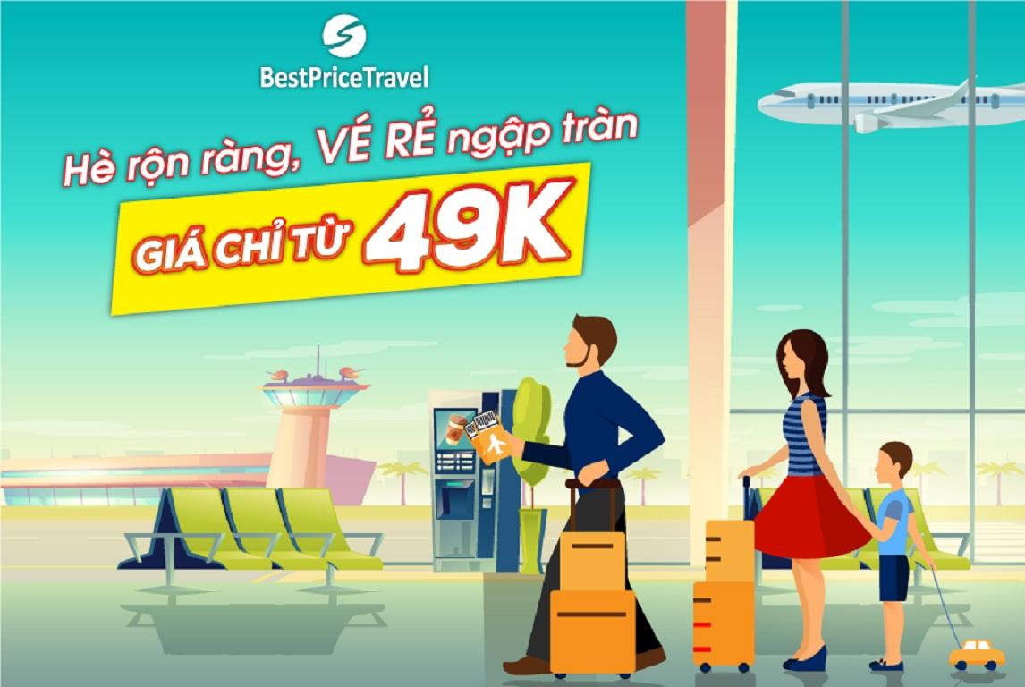 Vé máy bay giá rẻ hè 2019 chỉ từ 49k