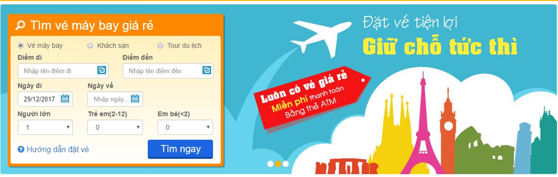 Tìm kiếm vé máy bay đơn giản tại Bestprice