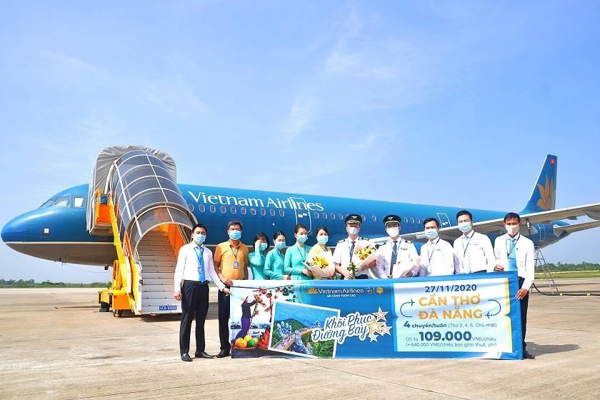 Vietnam Airlines khôi phục đường bay Cần Thơ - Đà Nẵng giá ưu đãi chỉ từ 109.000 đồng