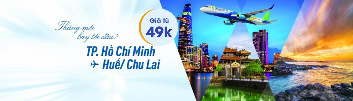 Bamboo Airways mở bán đường bay TP. Hồ Chí Minh – Huế/Chu Lai CHỈ TỪ 49K