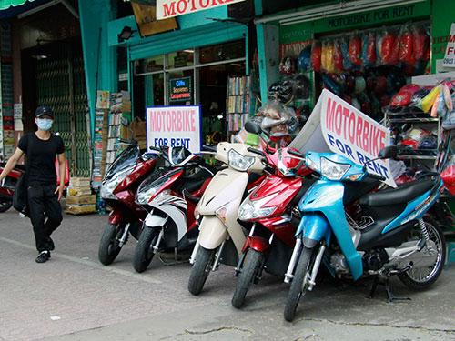 Nhiều địa điểm cho thuê xe máy tự túc đi trong ngày