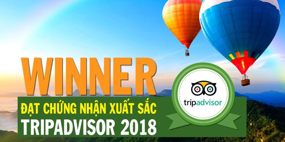 Công ty BestPrice đạt Chứng nhận Dịch vụ xuất sắc của Tripadvisor