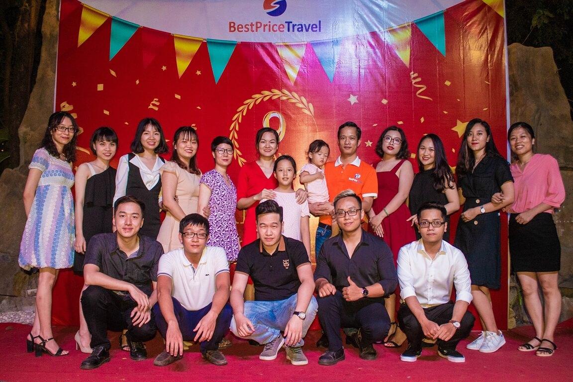 Hình ảnh bộ phận inbound chi nhánh Hà Nội trong bữa tiệc