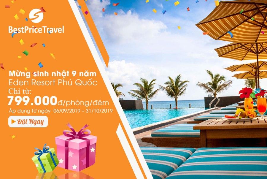 Chương trình khuyến mại tại Eden Resort Phú Quốc 4*