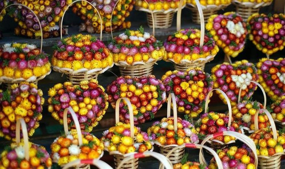 Hoa khô là quà lưu niệm Đà Lạt được nhiều du khách lựa chọn