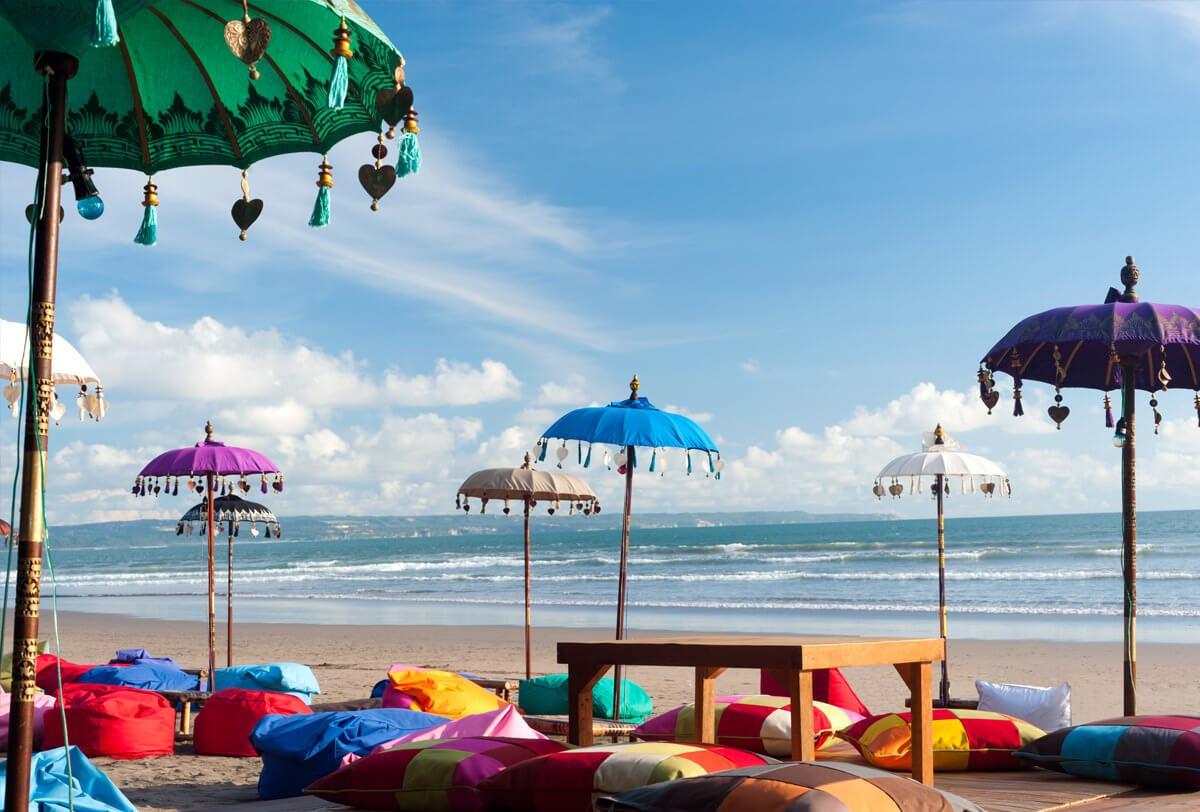view nhìn từ bãi biển Bali