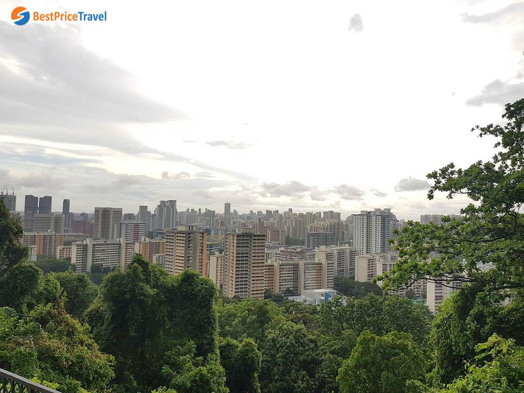 Góc nhìn từ ngọn núi Mount Faber cao nhất Singapore