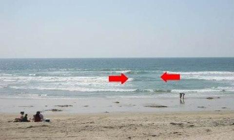 Cách nhận biết khu vực có dòng chảy xa bờ