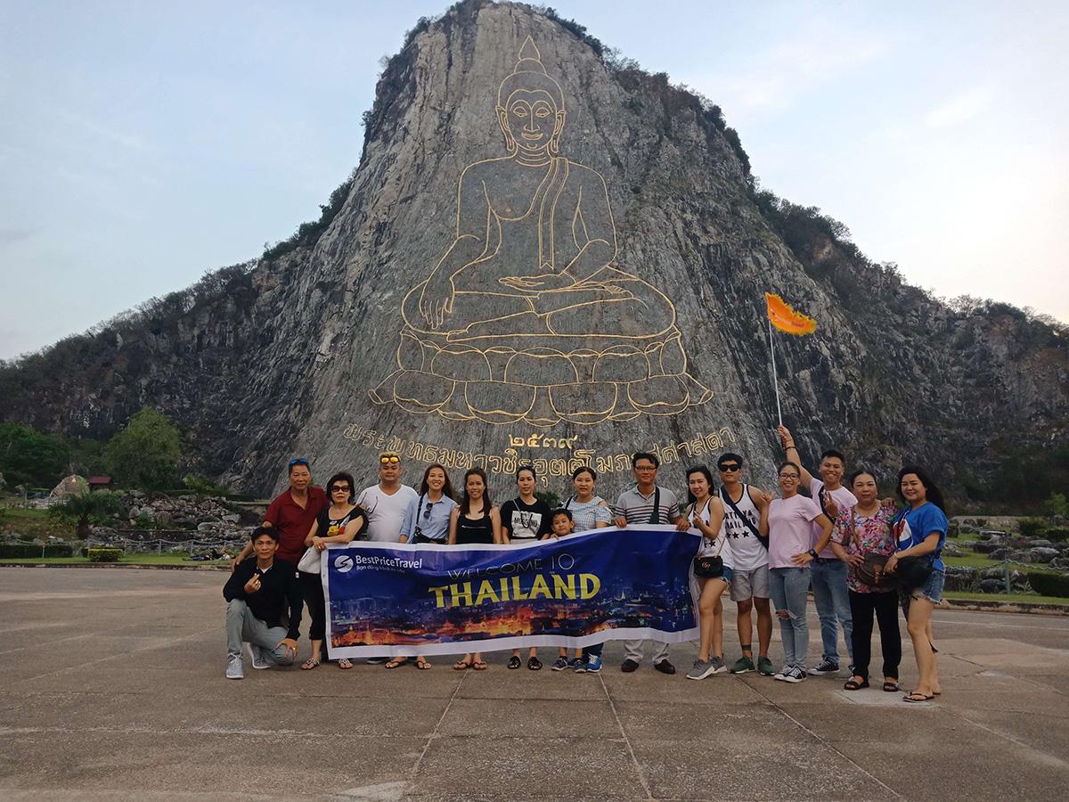 Đoàn khách tham gia tour Thái Lan khởi hành từ Hồ Chí Minh của BestPrice