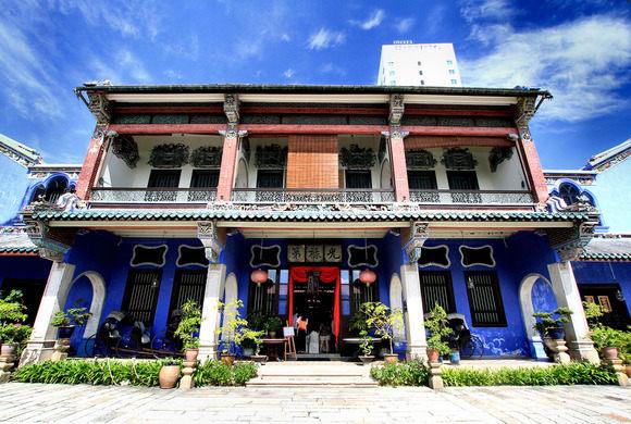 Cheong Fatt Tze - Tòa lâu đài nổi bật với màu xanh thẫm