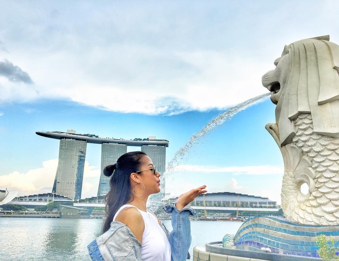 ngày đẹp trời tại Singapore