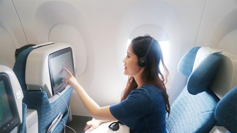 Tiện ích giải trí trên hạng ghế Phổ thông đặc biệt của Vietnam Airlines