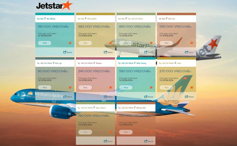 Vé máy bay Jetstar khuyến mãi