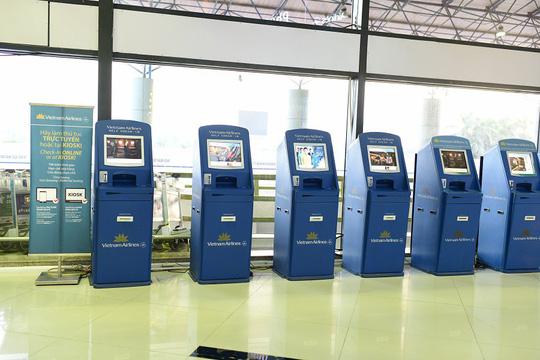 Kiosk check-in tại sân bay của Vietnam Airlines