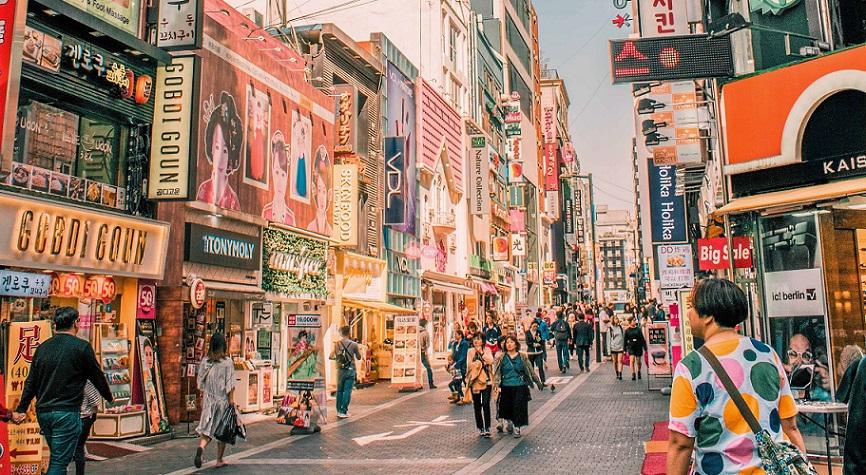 phố đi bộ myeongdong