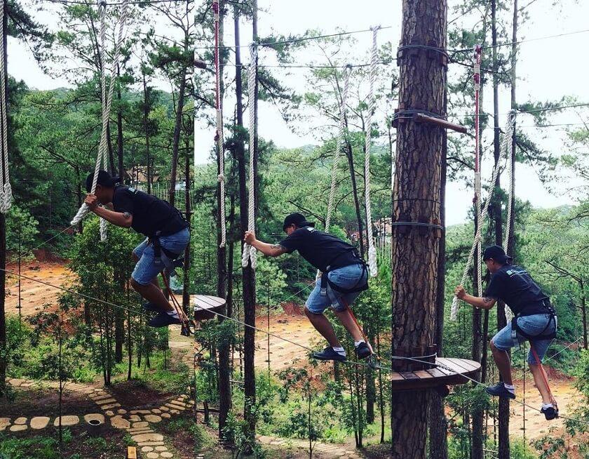 Datanla High rope course - Một trong những khu vui chơi ở Đà Lạt thú vị