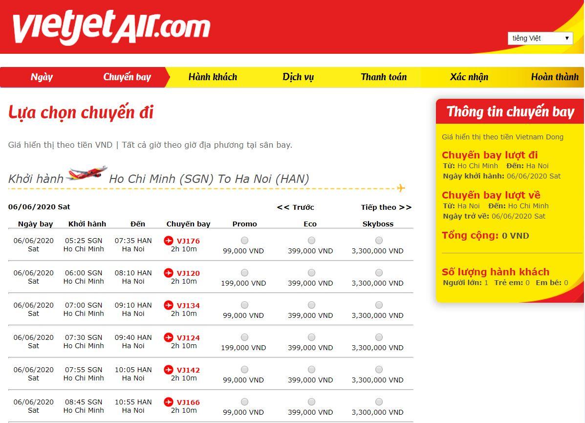 Chọn giờ bay và giá vé phù hợp
