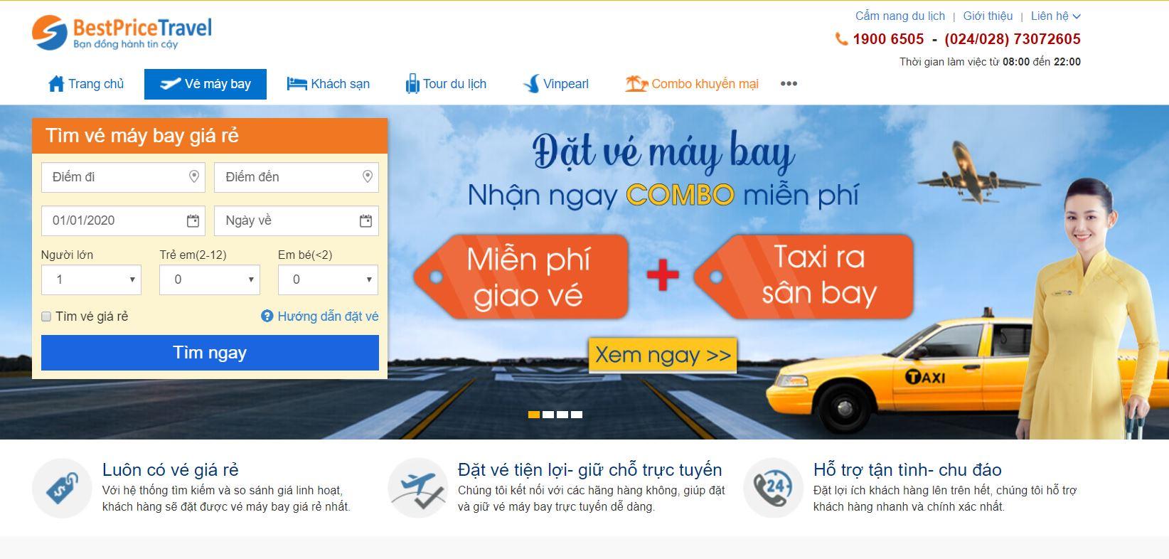 Điền đầy đủ thông tin vào ô tìm kiếm vé máy bay