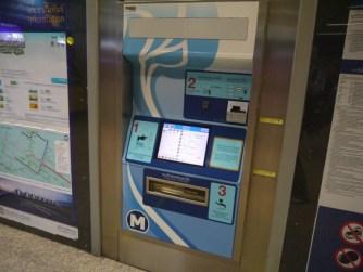 Máy bán vé tự động MRT