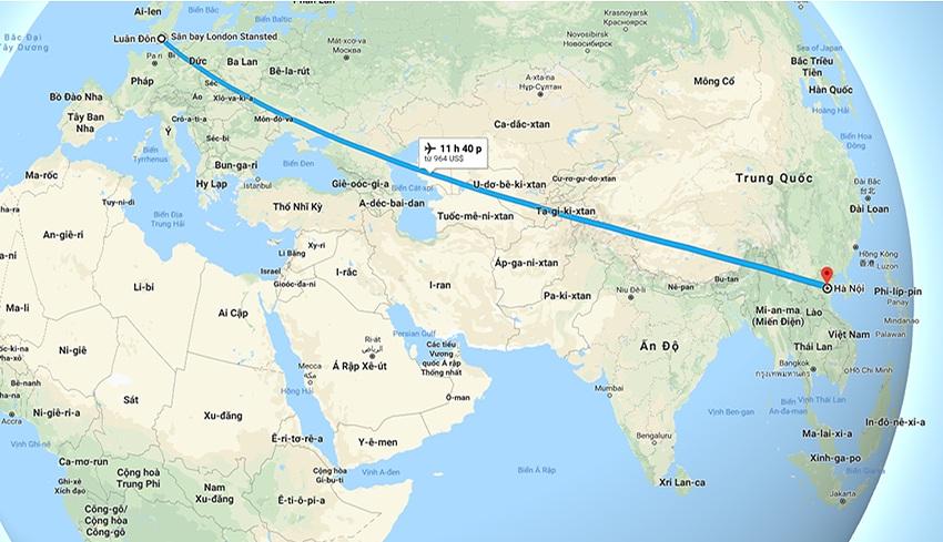 Chuyến bay từ Hà Nội đi London (Anh)