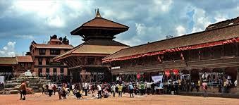 Đền thờ ở quảng trường Kathmandu Dubar