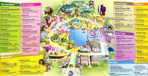 Bản đồ tại Universal Studio Singapore (USS)