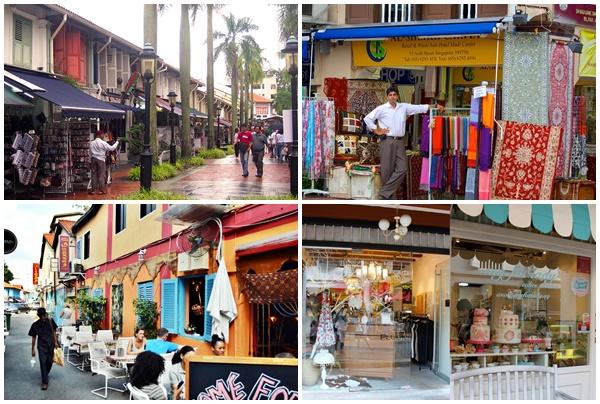 Các cửa hàng tại khu phố Arab Street