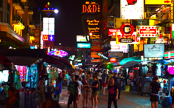 Khu phố Khaosan Road, Thái Lan