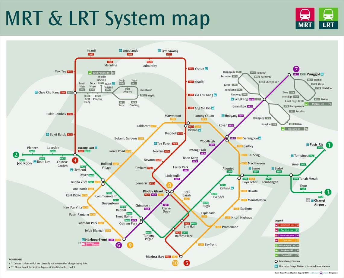 Sơ đồ hệ thống tuyến đường MRT