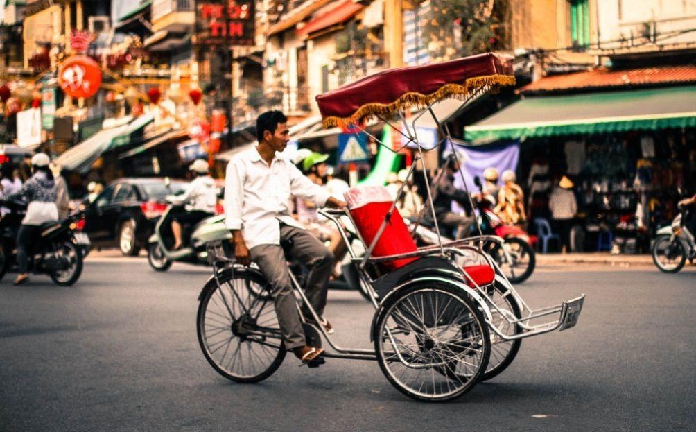 Di chuyển bằng xích lô ở Đà Nẵng
