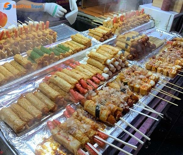 Du lịch Myeongdong thưởng thức những món ăn siêu đặc trưng