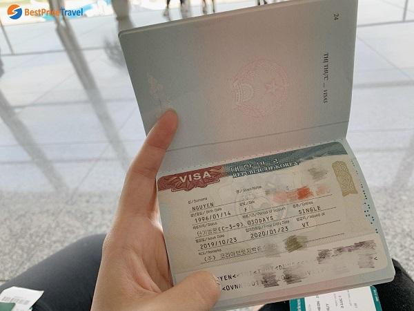 Visa du lịch Hàn Quốc