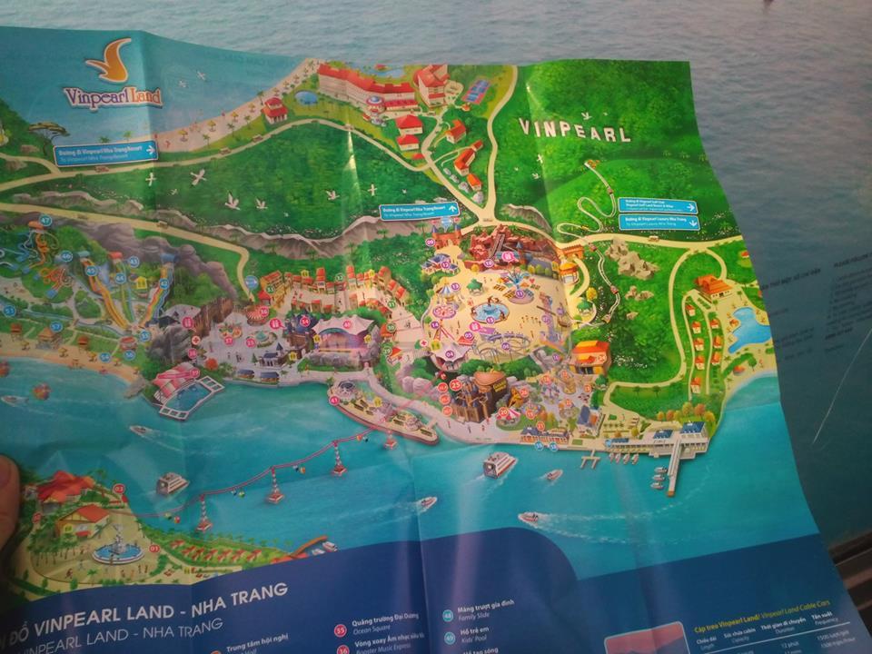 Nên lấy bản đồ khu vui chơi Vinpearl land để chọn điểm đến