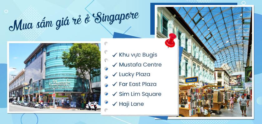 Những địa chỉ mua sắm giá rẻ theo kinh nghiệm du lịch Singapore tự túc