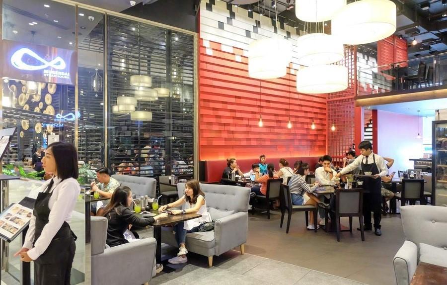 Khu vực nhà hàng của trung tâm thương mại Siam Paragon
