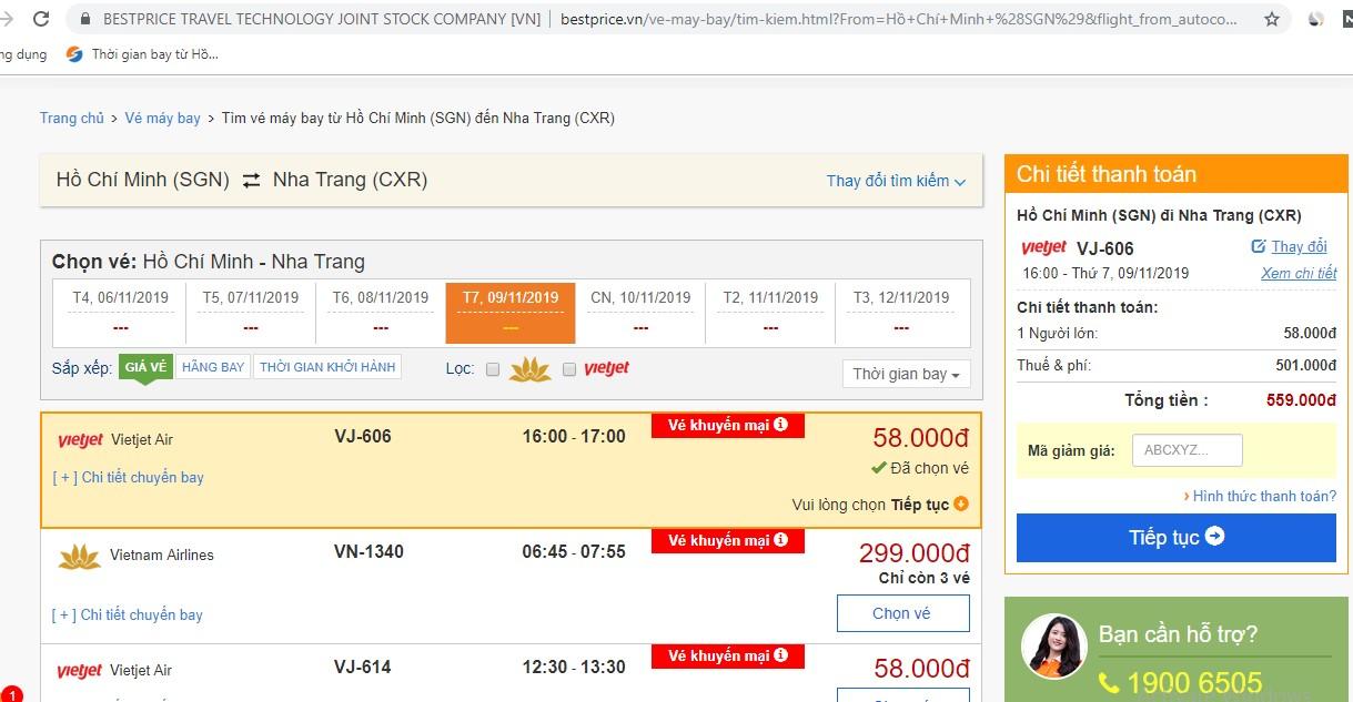 Kinh nghiệm săn vé máy bay đi Nha Trang giá rẻ tại BestPrice Travel