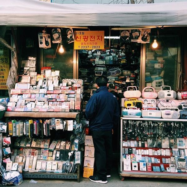 Chợ đồ cũ tại Hàn Quốc