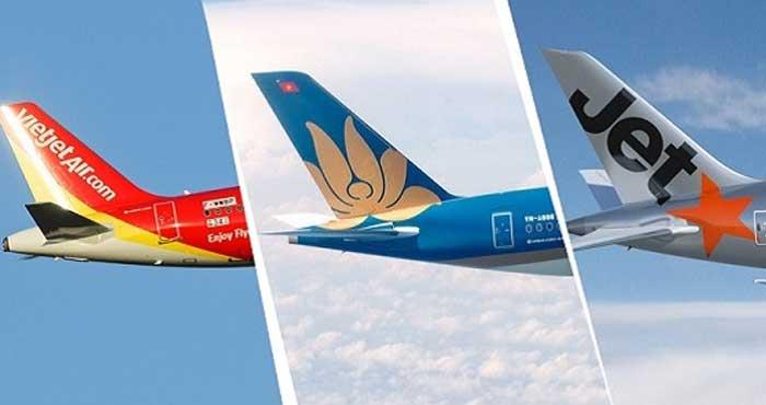 Cả 3 hãng hàng không đều hỗ trợ bạn kiểm tra vé đã đặt