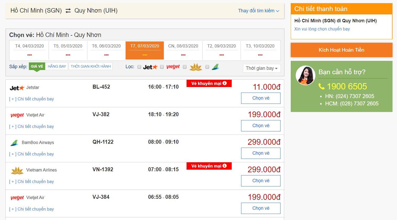 Dễ dàng đặt vé máy bay giá rẻ chỉ từ 11.000đ