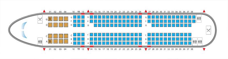Sơ đồ chỗ ngồi trên máy bay Airbus A321