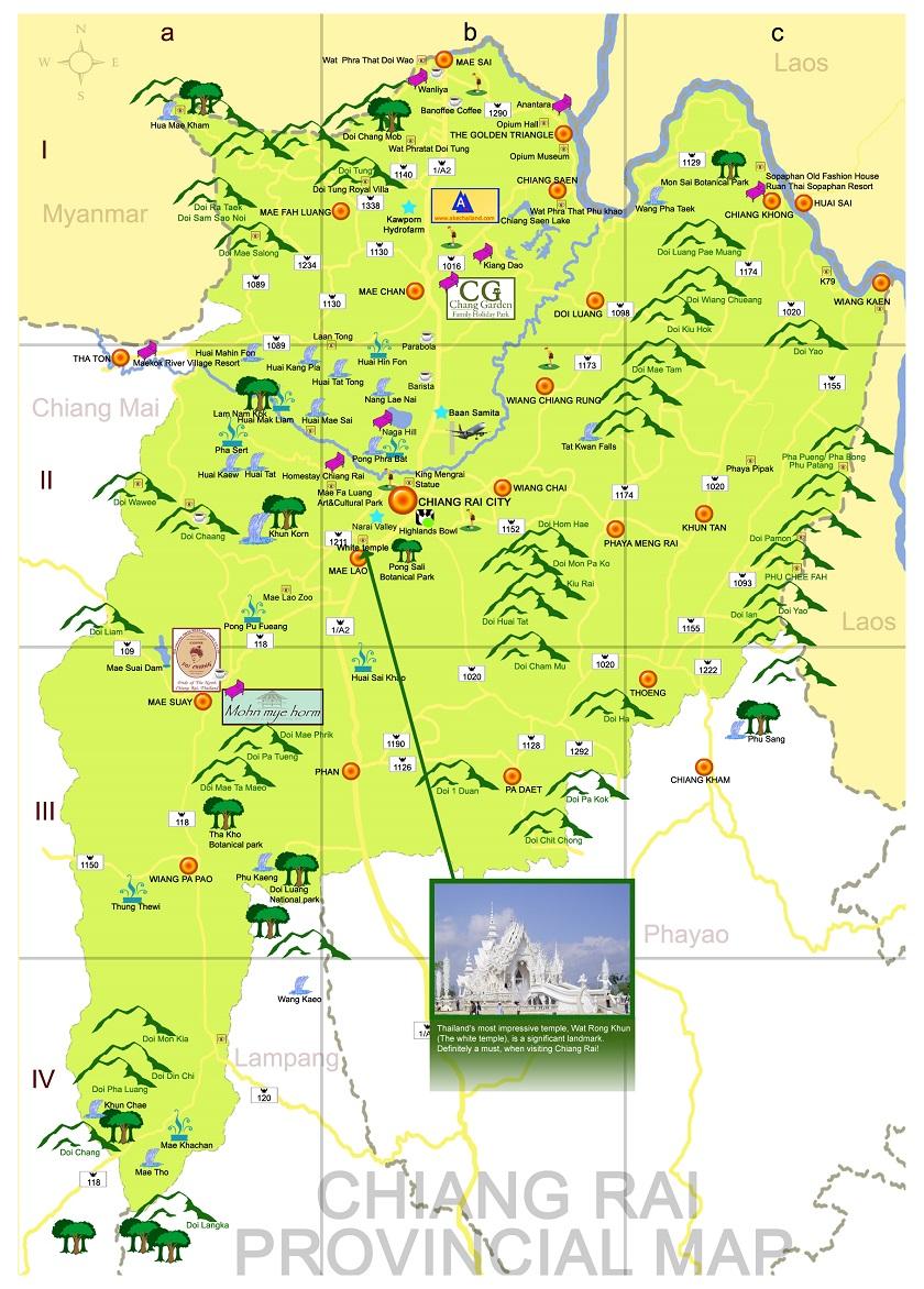 Bản đồ du lịch Chiang Rai