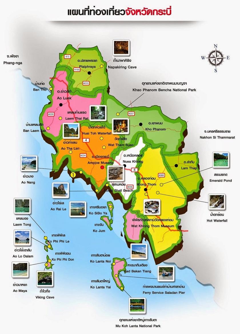 Bản đồ du lich Krabi