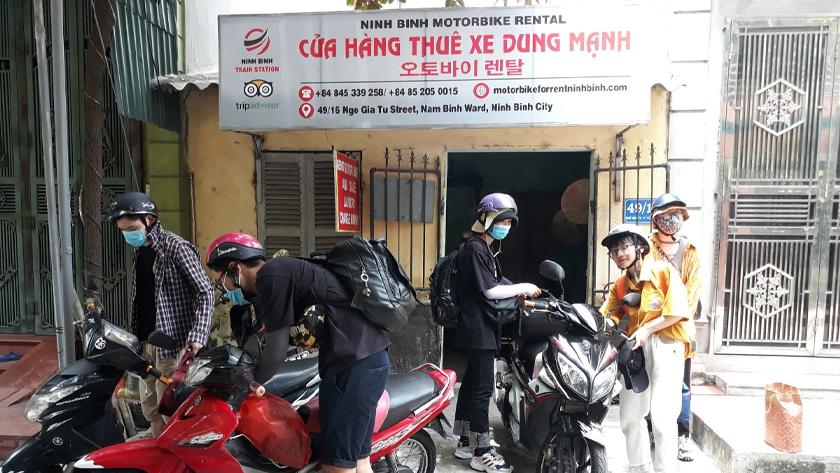 Thuê xe máy tại Ninh Bình