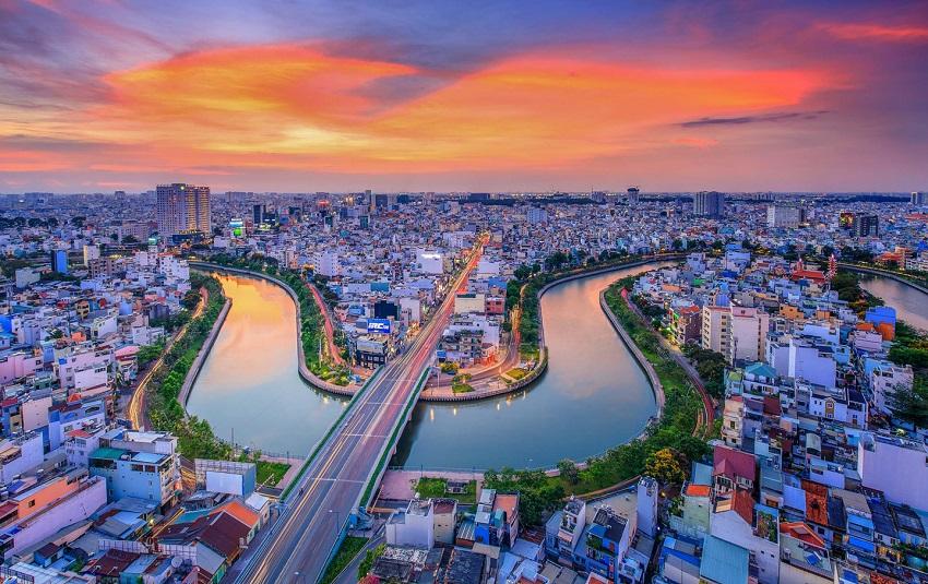 Toàn cảnh Sài Gòn từ trên cao