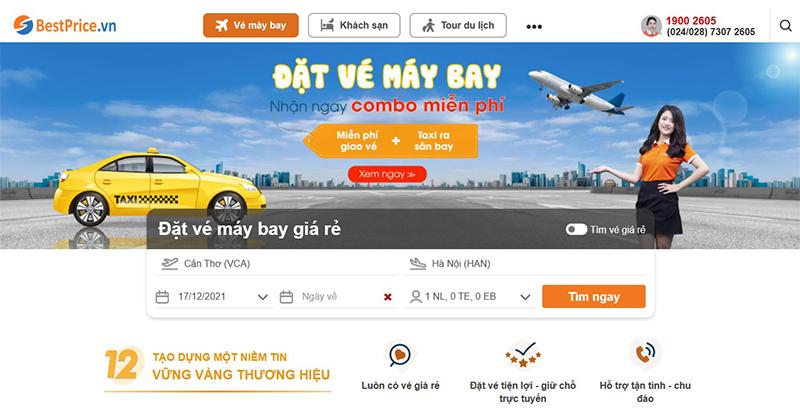 Tra cứu và đặt chuyến bay từ sân bay Cần Thơ tại bestprice.vn