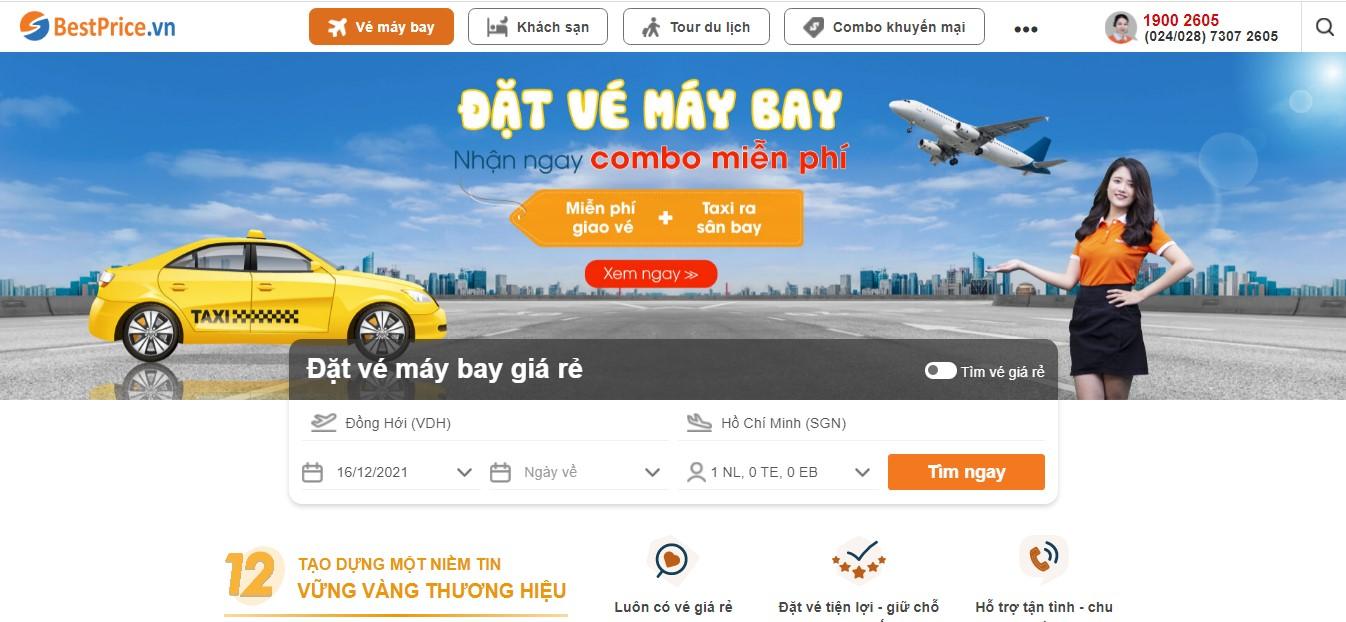 Tra cứu và đặt các chuyến bay từ sân bay Đồng Hới tại BestPrice.vn